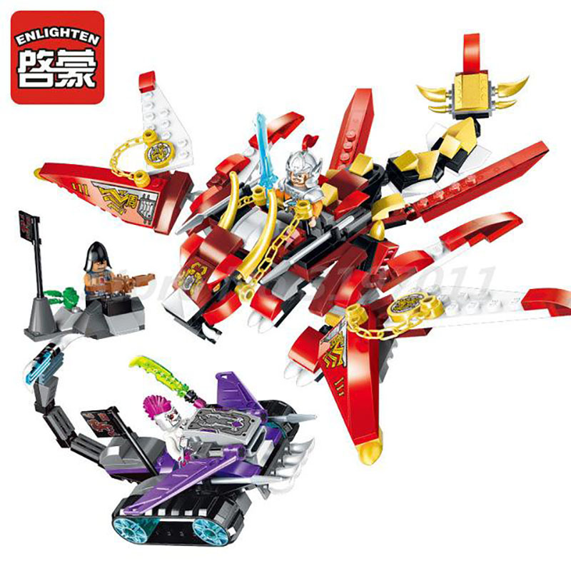 Enlighten 2209 Creation Of The Gods Chariot Dragon Building Block 3 Figures 325pcs Bricks Collection Toys For Boy Birthday Gifts enlighten building block war of glory castle knights ent witchclaw 3 figures 131pcs educational bricks toy boy gift