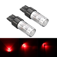 1 Pair New Red 80W T20 7443 Super Bright LED Bulbs Brake Tail Lights DXY88