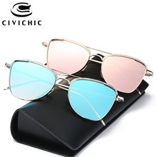 CIVICHIC New Stylish Women Sunglasses Brand Designer Alloy UV400 Glasses Hipster Street Snap  Oculos De Sol HD Mirror Gafas E310