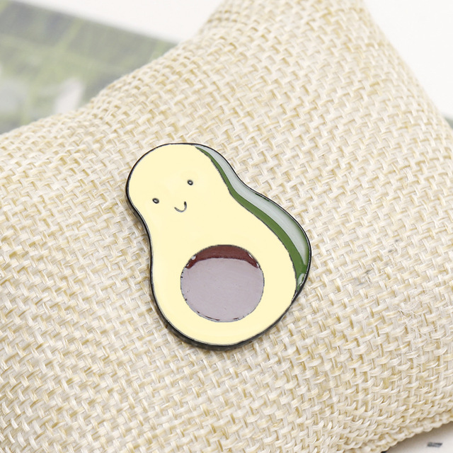 Cute Avocado/Cat Enamel Pin