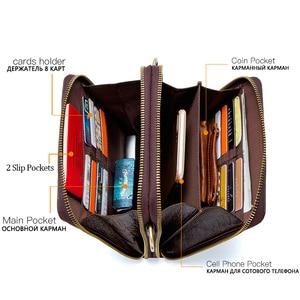 Image 3 - Mens Genuine Leather messenger bag Vintage Shoulder Bags Crocodile Crossbody Bags for men with Mobile Phone Pouch Waist Bag