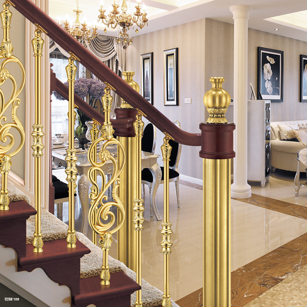 European Interior Design Luxury Aluminum Stair Railing