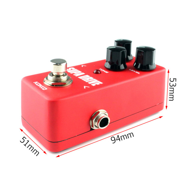 FOD5 KOKKO Mini Vintage Overdrive Guitar Effect Pedal Guitarra Overdrive Booster High-Power Tube Overload Guitar Stompbox