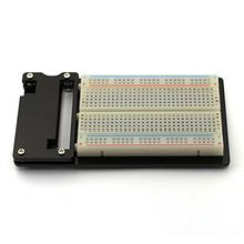 2 in 1 Acrylic Black Base Plate Mount & Experiment Breadboard for Raspberry Pi Zero(Raspberry Pi Zero NOT INCLUDED)(China)