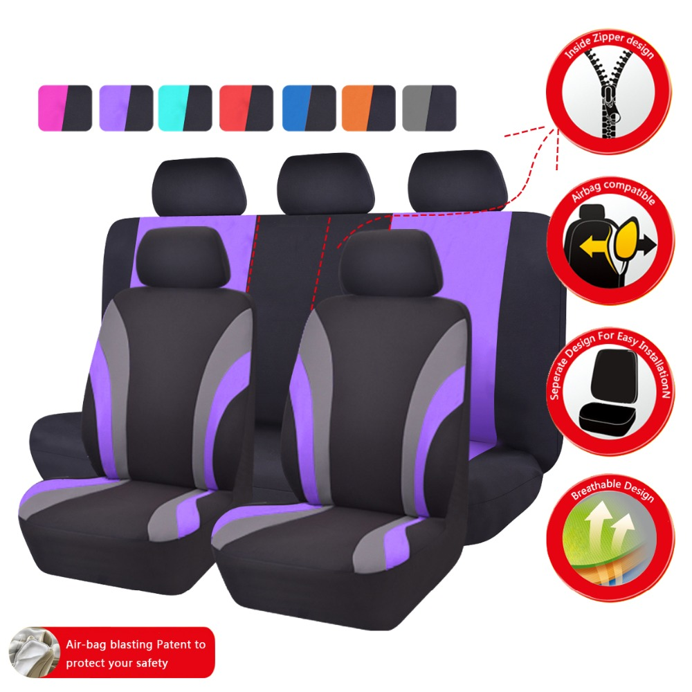 Car-pass Asientos de coche Cubiertas de tela de malla Asientos - Accesorios de interior de coche - foto 6