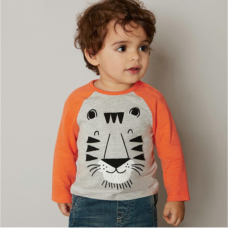 3a2a992b4 Kids Infant Clothing Children T shirt Cute Baby Boy Long Sleeve Cotton T  Shirts Kids Tees Printed Baby Boy Shirts Blouse Jacket-in T-Shirts from  Mother & ...