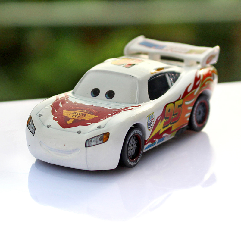 Pixar Cars White Limited Edition Lightning McQueen 1:55 Scale Diecast Metal Alloy Modle Brio Cute Toys For Children Gifts