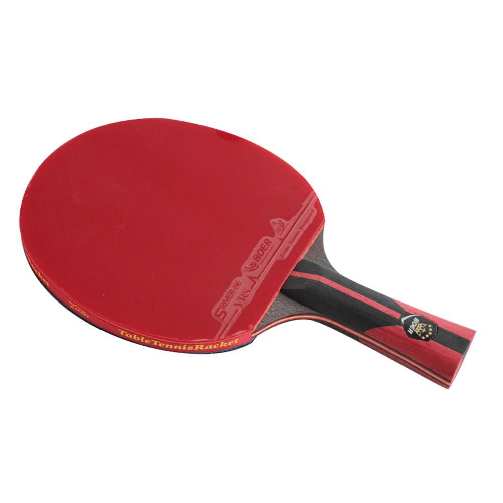 BOER 1pc 6 Star Professional Table Tennis Racket 7.6 Carbon Fiber King Ping Pong Bat Rackets High-quality With Bag