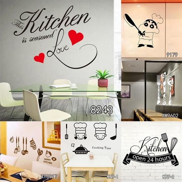 La Cucina è Casa Cuore Modello Citazioni Wall Sticker PVC Smontabile ...