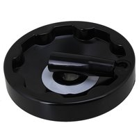 Black 16 X 155mm Plastic Lathe Milling Machine Inside Ripple Hand Wheel With Revolving Handle Grip