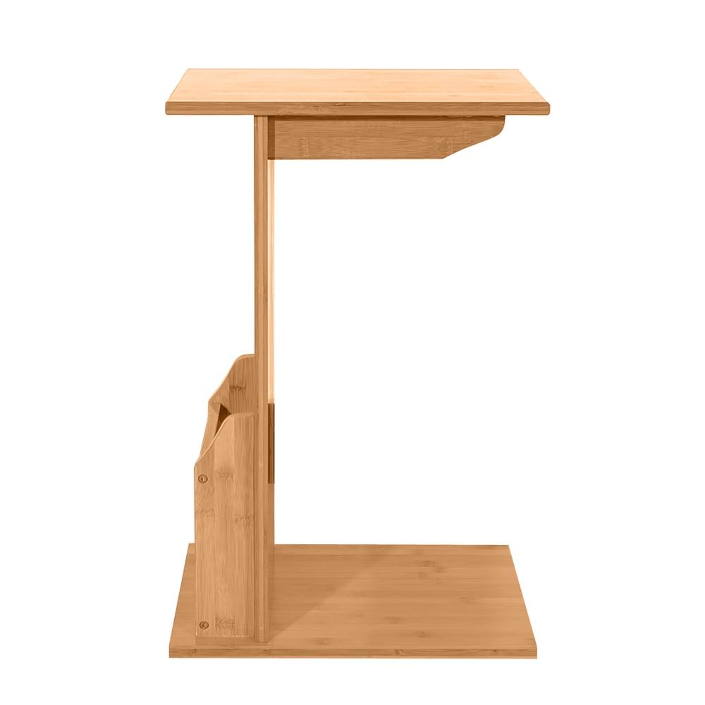 - L Shaped Sofa Side Coffee Table Basse Tea Table Bamboo Color Side