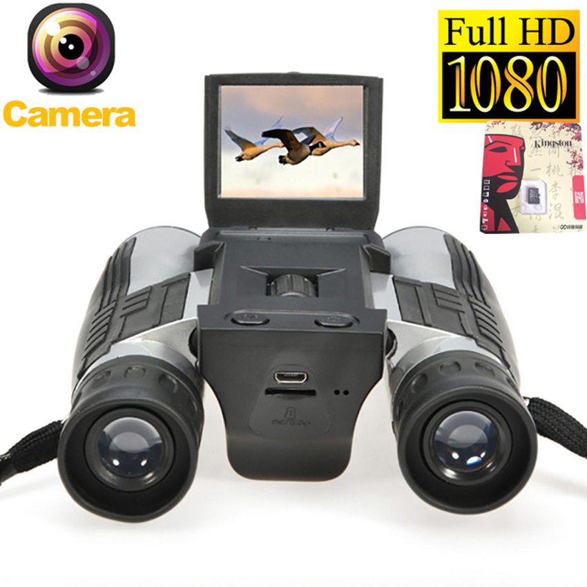 2018 New 12x32 HD Binoculars Digital camera 5MP CMOS USB Digital Telescope 2.0'' TFT 1080p Zoom binocular Camcorder Video Camera 2 lcd screen cmos hd 720p usb digital binocular telescope 96m 1000m zoom telescopio dvr binoculars photo camera video recording