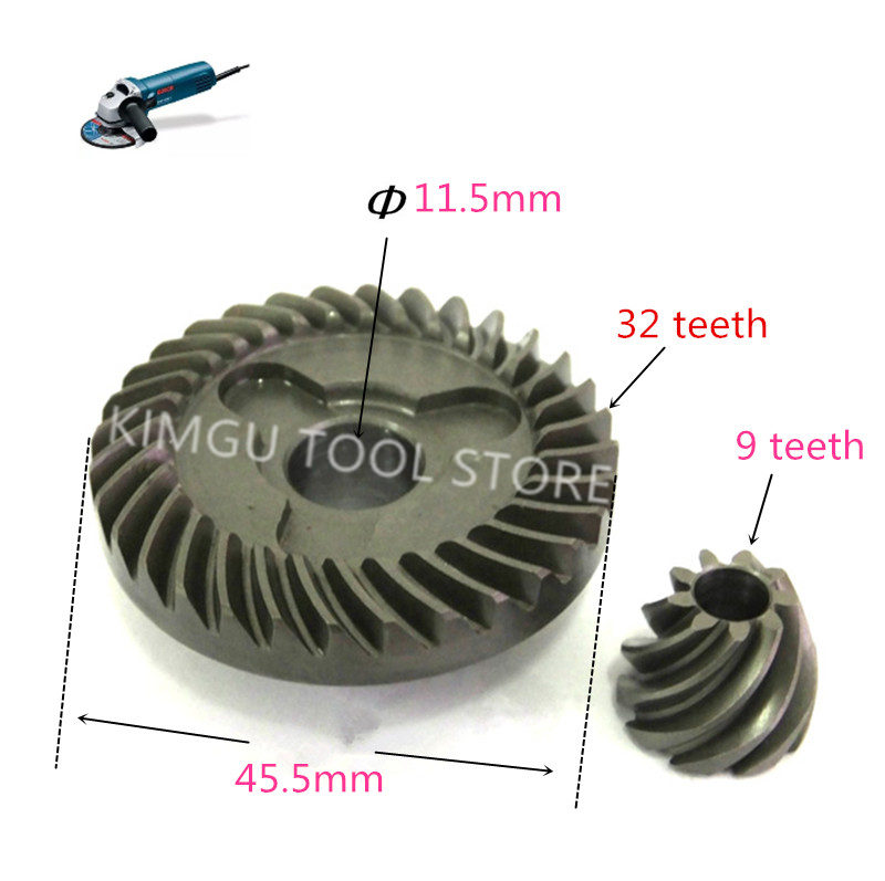 Crown Spiral Bevel Gear Metal Gear Replacement for BOSCH 2609110150 GWS580 GWS600 GWS660 GWS780C GWS850C GWS5-100 Angle Grinder metal spiral bevel gear set for bosch gws 6 100 angle grinder