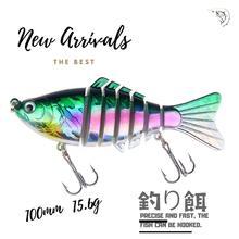 Good Quality Hook Fishing Tackle Proberos 1PC Swimbait  Lure minnow 100mm 15.6g 3D eyes professional bait