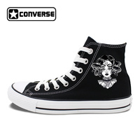 Converse Athletic Skate Shoes Original Design Unusual Art 4 Eyes Woman Sneakers High Top Lace Up