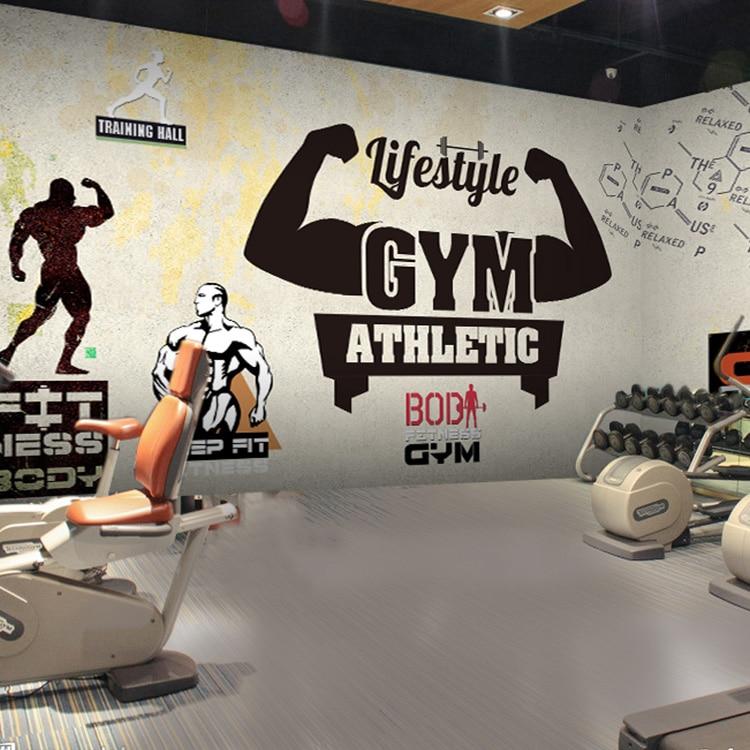 Custom 3d mural 3D stereo gym wallpaper