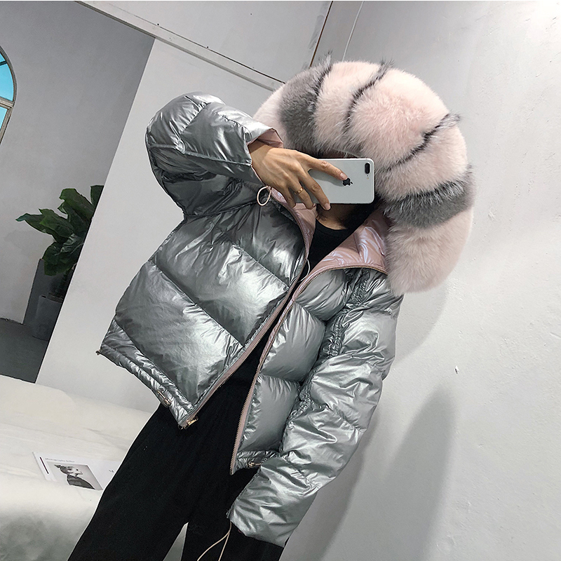 Image 5 - FTLZZ Large Real Fur Down Coat Winter Jacket Women Loose Natural 