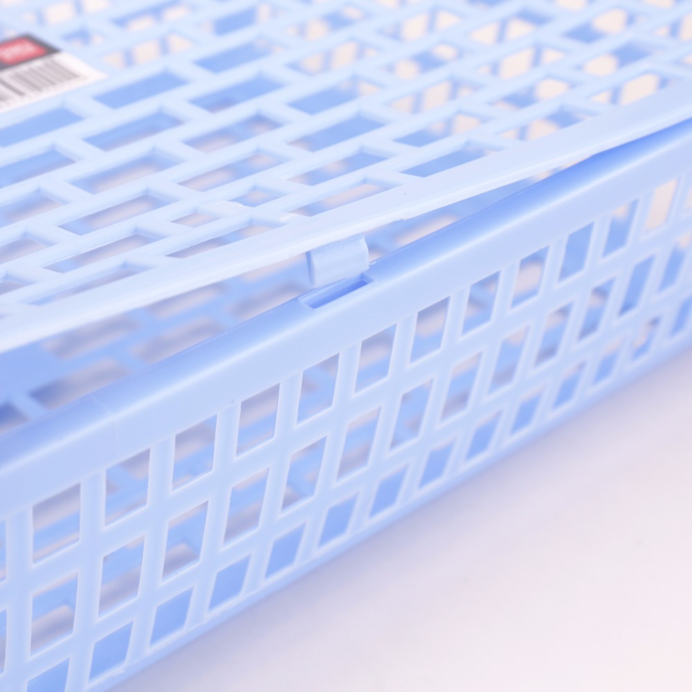 Купить с кэшбэком Deli 2019 1pcs 924 file basket A4 Thickening of plastic storage basket rectangular desktop file storage basket storage box