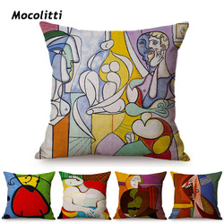 Pablo Picasso obrazy rzuć poszewka na poduszkę surrealizm streszczenie obraz olejny dekoracyjne galeria Sofa fotel poszewka