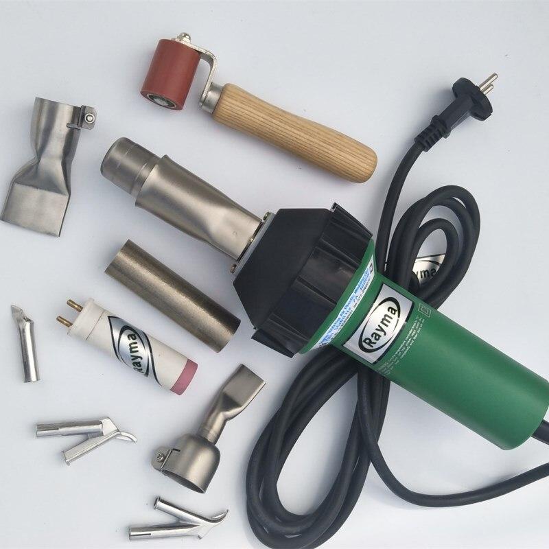 Soudeuse à air chaud de marque Rayma 230/110 V 1600 w avec 9 accessoires pour réservoirs d'eau PP/PVC/PE/PPR