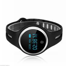 Практичный-Водонепроницаемый Bluetooth 4.0 Браслет Смарт часы Спорт Здоровье Шагомер сна Трек Черный