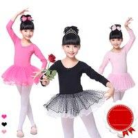 Sıcak Satış Bale Dans Elbiseler Kız Pembe Gül Siyah Uzun Kollu Giymek Için Çocuk Rekabetçi Balo Salonu Okul Sahne Kostüm N9006