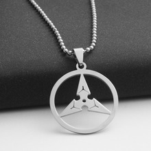10 geometric round triangle arrow game watch pioneer darts necklace New stainless steel triangle darts pendant necklace jewelry metal triangle pendant necklace