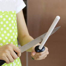 8 pulgadas cuchillo afilador afilado varilla de cerámica con abs manejar bruñido cuchillo afilador de cuchillos cuchillo afilado