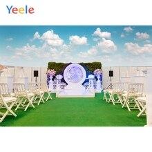 Yeele Wedding Photography Backdrop Green Carpet Photocall Flower Background Vinyl Custom Outdoor Scene For Photo Studio