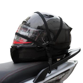 Motocyklowa siatka bagażowa kask pasek lina lina do skoków bungee bandaż taśma taśmowa regulowany motocykl elastyczne stringi pasek tanie i dobre opinie Systemy carrier Riding Tribe
