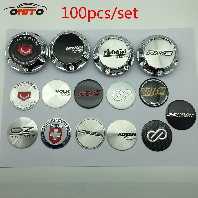100pcs 65mm ADVAN ENKEI FOR VOSSEN Emblem VOLK RAYS WORK Sticker Wheel Center Cap Hub Cap car styling enkei sc18 7 5x17 5x114 3 d73 1 et42 hpb