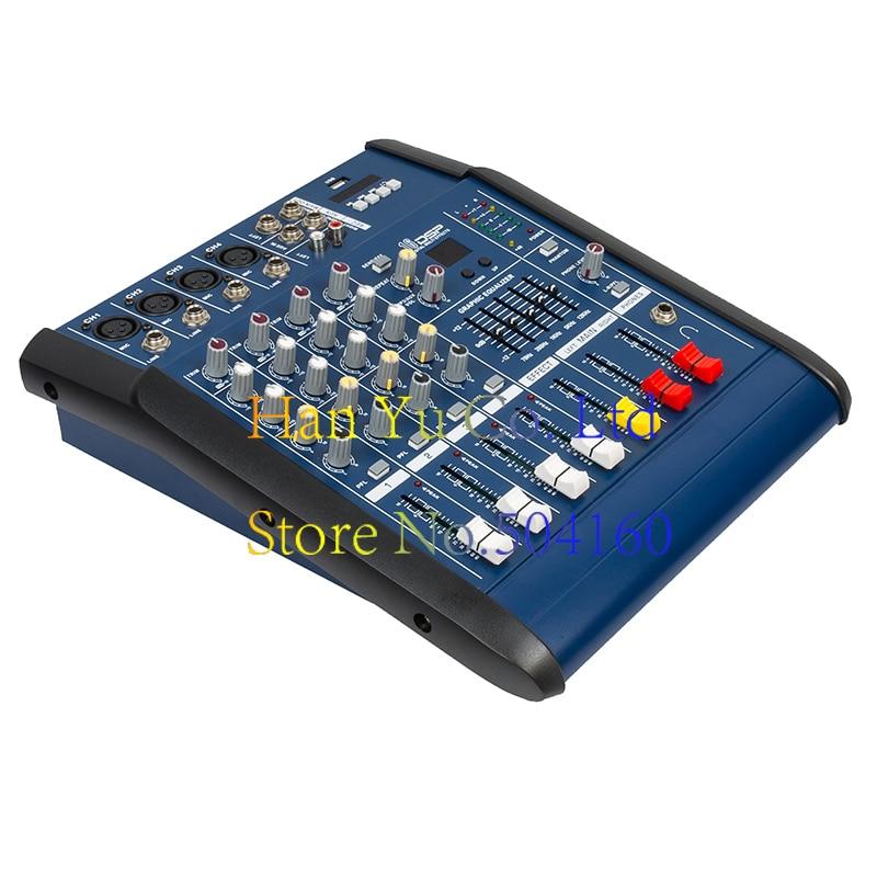 Professional Karaoke Audio Mixer Power Amplifier 4/6/8/12 Channel Microphone Sound Mixing Console With USB 48V Phantom Power leory mini karaoke audio mixer 4 channel microphone digital sound mixing amplifier console built in 48v phantom power with usb