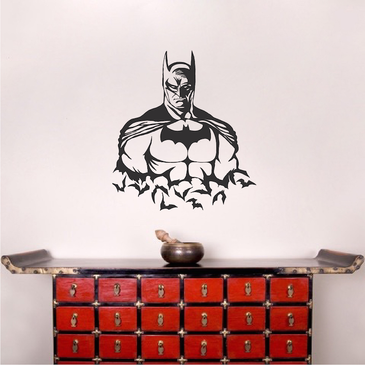 Cool Batman Wall Stickers For Boys Bedroom Kids Room Decoration ...
