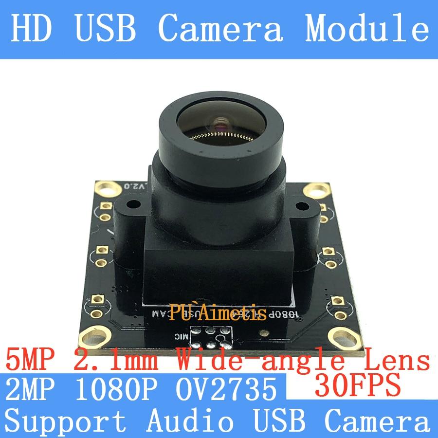 PU`Aimetis 1080P Wide angle 150 Surveillance camera HD 30fps Mini CCTV Android Linux UVC Webcam USB Camera Module Support audio