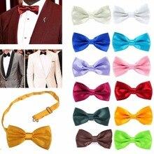 Классическая мода, новинка, мужской регулируемый галстук-бабочка для смокинга, галстук-бабочка, формальный галстук, деловой галстук для мальчика, свадебная мужская рубашка