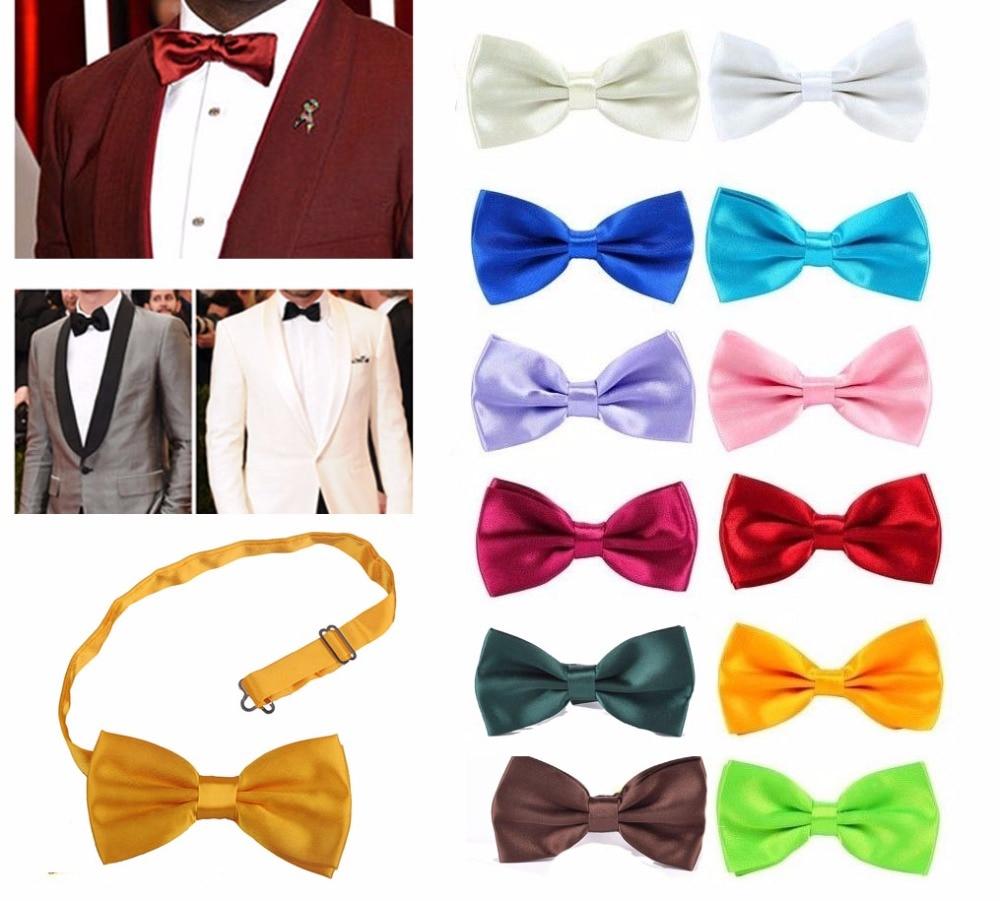 14 Colors Classic Fashion Novelty Mens Adjustable Tuxedo Wedding Bow Tie Necktie