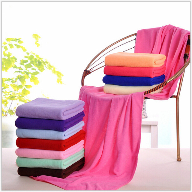 140x70cm / 55''x27'' Supersoft Microfiber Beach Towel Microfibre Bath Towel Sports Towel Gym Fast Drying Cloth Extra Large