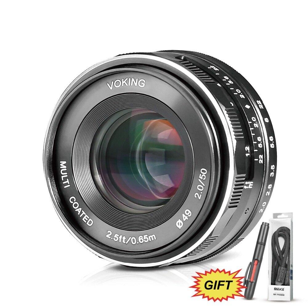 Voking VK-50mm f2.0 Large Aperture Manual Focus Lens for Nikon1 Nikon1 V1/V2/V3/J1/J2/J3/J4/J5 Cameras+Free GiftVoking VK-50mm f2.0 Large Aperture Manual Focus Lens for Nikon1 Nikon1 V1/V2/V3/J1/J2/J3/J4/J5 Cameras+Free Gift