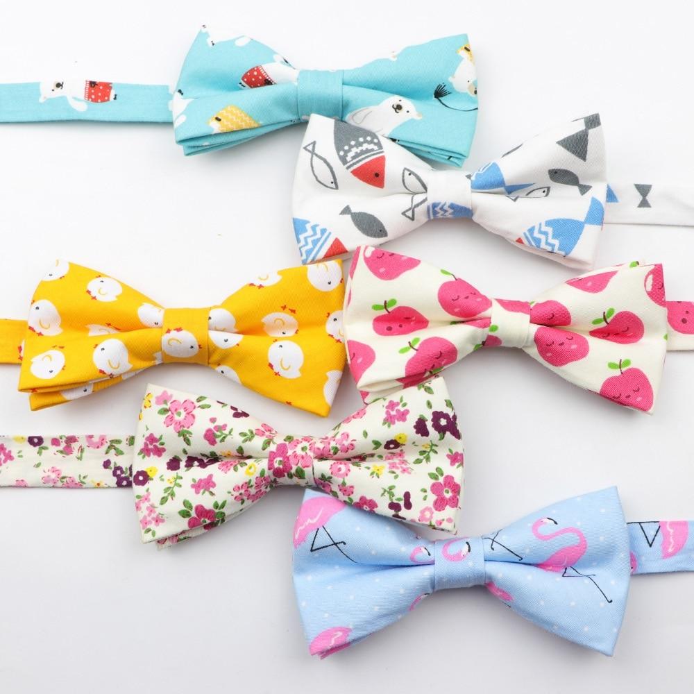 Men Bow Tie Plaid Style Cotton Duck Fish Rabbit Cat Bowtie Casual Gravata Borboleta Butterfly Strip Kids Children Dog Ties