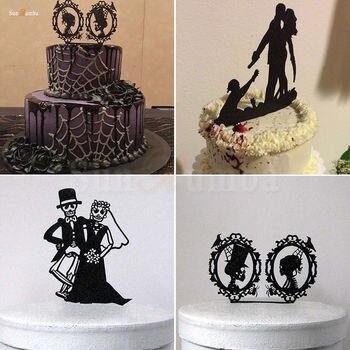 1 Uds adorno acrílico para pastel decoración de bodas evento decoración de pasteles suministros decoraciones de fiesta de Halloween decoración de pasteles