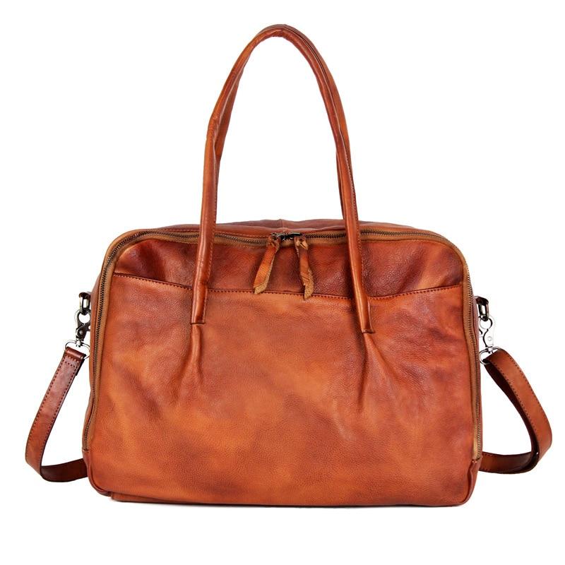 Rindsleder 2 1 Leder Messenger Taschen Tasche Erste Echtem Frauen 3 Laptop Schicht Damen Bjyl Schulter Reise Mädchen Handtaschen Weibliche H1xYTawq