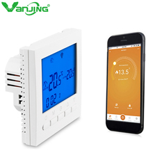 WiFi Smart Thermostat Temperature Controller for Gas Boiler 3A Weekly Programmable LCD Touch Screen Temperature Regulator