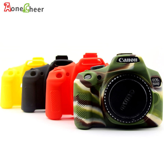 high quality colorful silicone camera case for canon eos 1300d 1500d