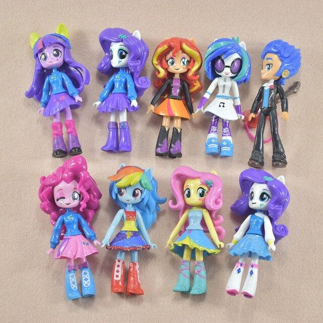 9pcs set twilight sparkle rainbow dash apple jack rarity fluttershy