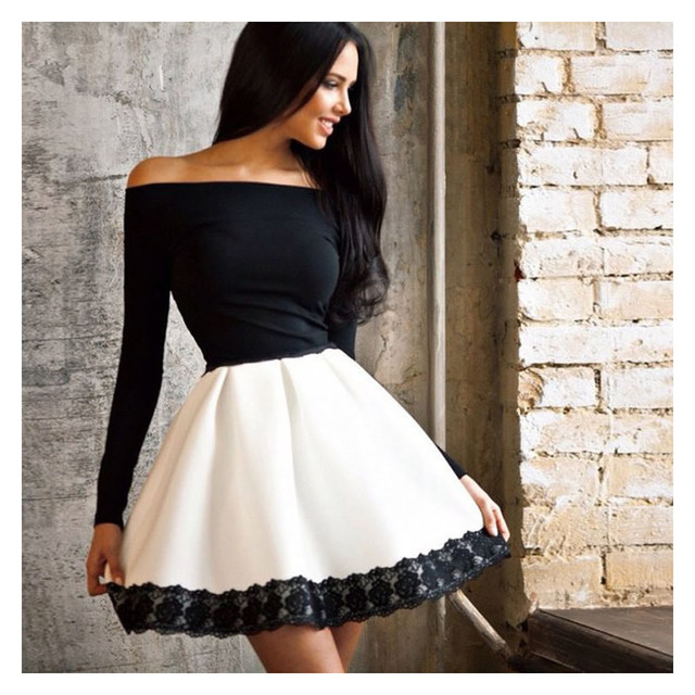 5b59280df434 2016 Fashion New Sexy Women Casual Long Sleeve Summer Dress Ladies Party  Cocktail Short Mini Lace Girls Dresses Women's Clothing