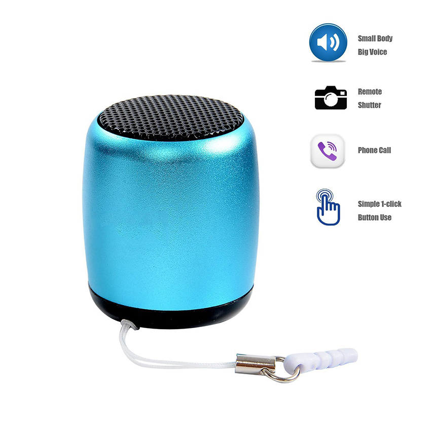 Aimitek Mini Wireless Speaker Small Pocket Size blue-4