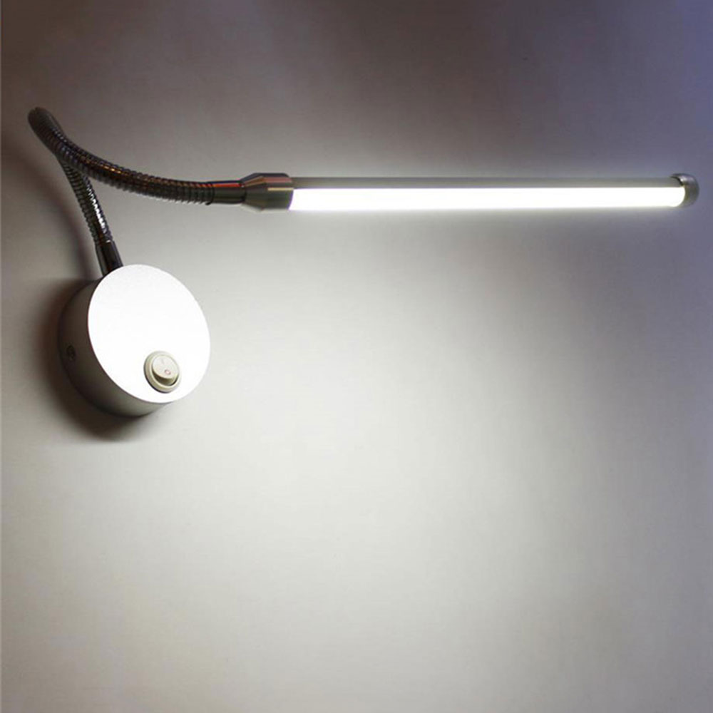 Modern 5w 9w Led Reading Lamp Wall Mount Study Lights Plug Bedside Bedroom Led Bathroom Mirror