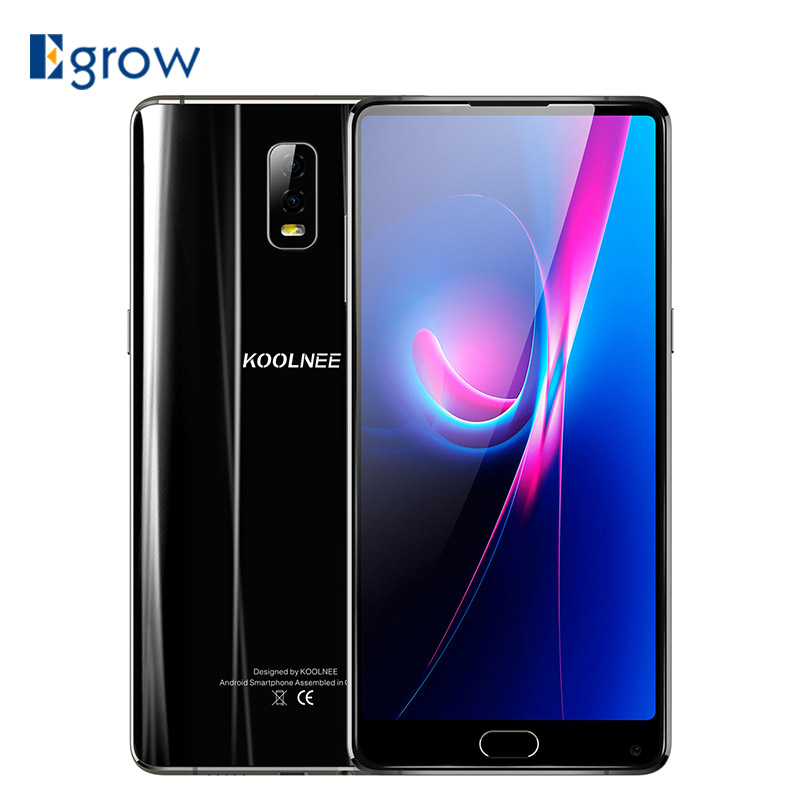 KOOLNEE K1 Trio 6.01 Inch MTK6763 Octa Core Android 7.1 6GB 128GB 4200mAh Dual Rear Camera 16MP+2MP Fingerprint 4G Smartphone
