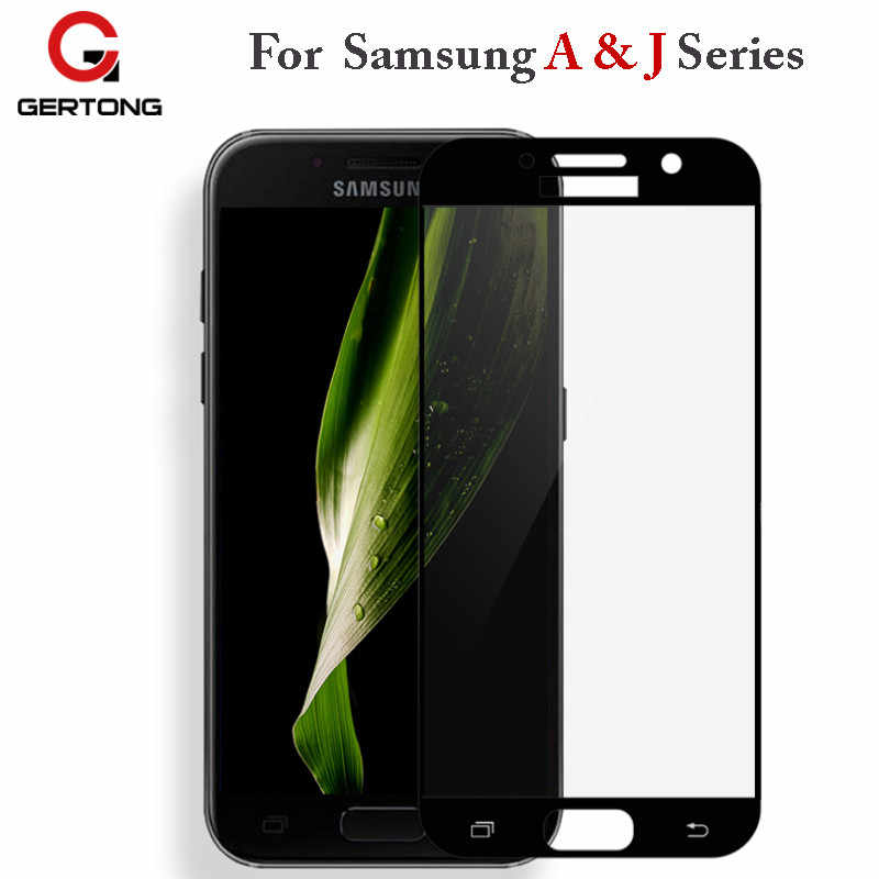 GerTong Protective Tempered Glass For Samsung Galaxy A3 A7 J3 J7 J5 2016 A5 2017 Screen Full Cover Protector Toughened Case Film