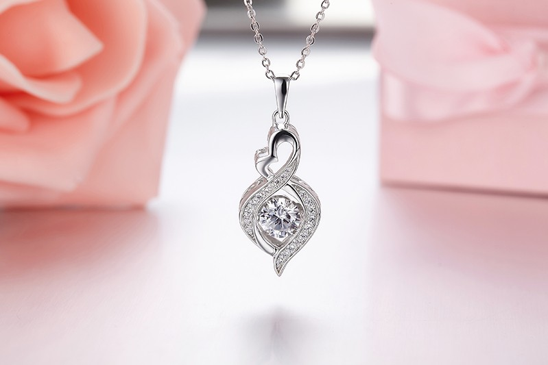 for sterling silver jewelry necklace for women wedding DP18310A (3)